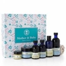 New Mother & Baby Gift Box - A selection of luxurious organic skin pampering and softening to gently nourish, soothe and calm body and soul.     Pure, natural and safe to use during pregnancy and on baby's delicate skin.
