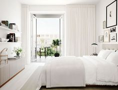 10 habitaciones en color blanco