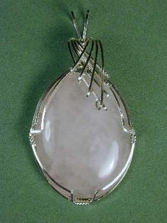 Wire Wrapped Cabochon tutorial  Really clear instructions and a video tutorial too!