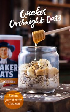 Busy Winter mornings? We have the answer you didn't even know you wanted! Quaker® overnight oats is a grab and go breakfast that you can make in just minutes! Grab a jar and the ingredients below and you'll be ready to make Quaker® Peanut Butter and Banana Overnight Oats. Refrigerate overnight, enjoy in the morning, and you'll be ready to take on the day.