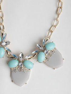 #Necklace #Blue #Grey