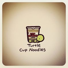 Turtle Cup Noodles Print