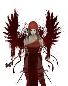 Elektra Blood Wings by Protokitty.deviantart.com on @deviantART