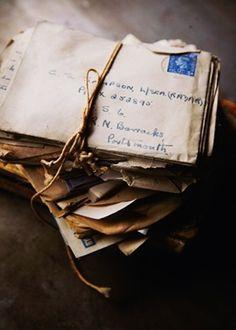 Letters written by hand.