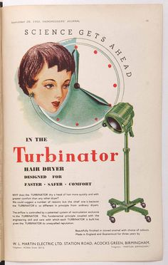 vintage hair dryer advertisements Archives - The Vintage Inn Retro Advertising, Vintage Advertisements, Vintage Ads, Vintage Labels, Vintage Photos, Hj History, Vintage Hair Salons, Beauty Shop, Bad Hair