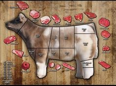 Know your cuts! Find out where your meat comes from