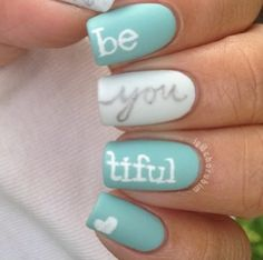 Words of insight with turquoise nails