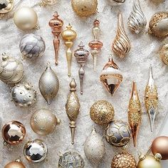 Oh my!! I absolutely LOVE this collection!! Mixed Metals 60-pc. Ornament Collection