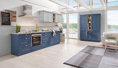 Diese Blaue Landhaus Küche Kombiniert Funktionalität Und Design