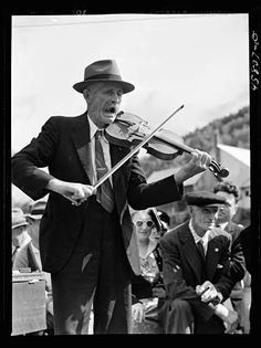 Jack Delano Fiddler (Mr. Ed. Lorkin) for the square dances at the World's Fair at Tunbridge, Vermont 1941