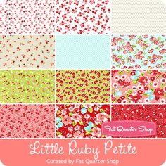 Little Ruby Petite Fat Quarter Bundle Curated by Fat Quarter Shop - Little Ruby - Moda Fabrics | Fat Quarter Shop