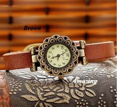 Leather Women Watch  Leather Wrist Watch  Women's by Amazingwatch, $13.80