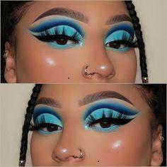 Makeup Eye Looks, Eye Makeup Art, Skin Makeup, Eyeshadow Makeup, Creative Eye Makeup, Colorful Eye Makeup, Makeup Goals, Makeup Inspo, Rave Makeup