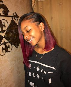 This is a Virgin Brazilian Human Hair Lace Front Wigs Ombre Straight Short Bob Wigs. Birthday Hairstyles, Sew In Hairstyles, Black Girls Hairstyles, Straight Hairstyles, Braided Hairstyles, Teenage Hairstyles, Relaxed Hairstyles, Popular Hairstyles, Trendy Hairstyles