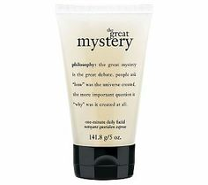 philosophy the great mystery daily facial.  Ok, all you philosophy girls out there or anyone who wants smooth clear skin - this is THE ONE!
