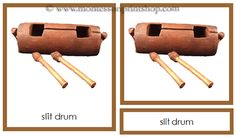 Australia & Oceania Instruments: 23 photographs of the Musical Instruments of Australia-Oceania in 3-Part Cards.