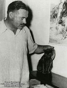 A young Ernest Hemingway and friend.