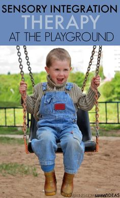 Try these sensory integration therapy ideas at the playground for vestibular and proprioceptive sensory input.