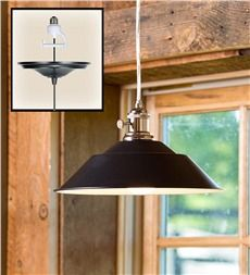 Screw-In Metal Barn Pendant Light