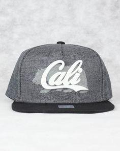 CALIFORNIA BEAR COTTON SNAPBACK (GREY   BLACK) – Kurolabel Brand f0a857b94d72
