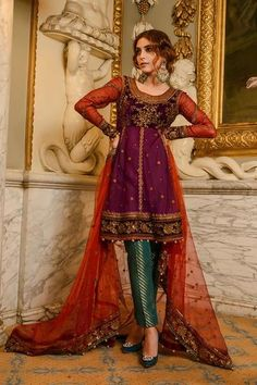 Buy MARIA.B MBROIDERED Wedding Edition 2017 – Plum & Maroon (BD-1205) featuring Maya Ali. Shop online for Original Maria.B Pakistani Wedding Suits. ✓ Cash On Delivery ✓ Free Shipping all over India.