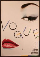 Vogue - Musee Decorative Arts Lausanne by Hunziker Benni, 1980s. Vintage fashion poster