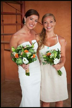 Our bride, Maia, with her bridesmaid! Beauties, inside & out!   #CaboFlowersandCakes #Cabowedding #TheCaboFloralExpert www.loscabosflowers.com @RanchoPescadero