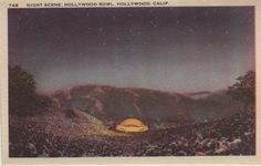 1940's Hollywood bowl postcard. Hagins collection.