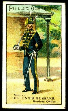 Cigarette Card - 14th King's Hussars