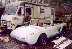 Just A Car Guy: Corvettes in Barns, fields, and other places that they decay in Chevrolet Corvette, Chevy, Find Cars, Junkyard Cars, Corvette Summer, Car Barn, Used Bikes, Old Race Cars, Rusty Cars