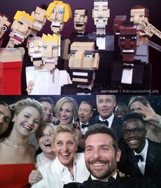 Lego artist Iain Heath of The Living Brick spent 12 hours creating a lego parody of the now famous Oscars Selfie.