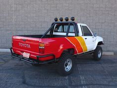 Find used 1984 Toyota Pickup Truck Tacoma Ivan Stewart Baja Paint Job Restored in Tempe, Arizona, United States Toyota Pickup 4x4, Toyota Trucks, Toyota Cars, Pickup Trucks, Toyota Autos, Toyota Hilux, Truck Paint Jobs, 2010 Toyota Tacoma, Obs Truck
