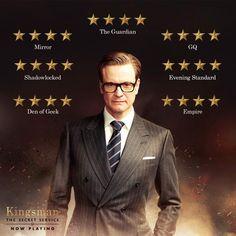 """หลายสำนักการันตรีว่า """"ดีเยี่ยม""""  The Kingsman: The Secret Service  ฉายแล้ววันนี้ #movietwit #Kingsman"""