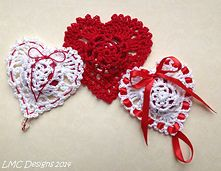 Valentine Victorian Heart Pattern:  Reds Collection