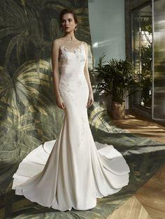 Blue by Enzoani - KEISHA   Wedding Dresses & Bridal Gowns - Jaehee Bridal Atelier  #mermaid #bateau #illusion #sweetheart #sleeveless #flowers #floral #bridal #weddingdress