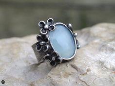 Studánka - prsten s chalcedonem