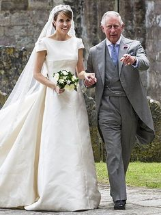 The Queen and other members of the British royal family attended the wedding of Alexandra Knatchbull, daughter of Lord and Lady Brabourne and great-granddaughter of the late Lord Mountbatten, and entrepreneur Thomas Hooper on Saturday.  Prince Charles even gave the bride away since his friend Norton