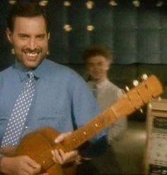 Queen ~ Freddie Mercury and John Deacon 1989
