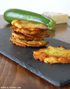 FRITTERS WITH POLENTA, ZUCCHINI & CHEESE