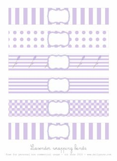 Lavender Wrapping Bands FREE PRINTABLE