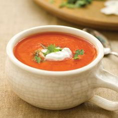 17 Day Diet Friendly Tomato Soup -- perfect as the starter for your big meal! #17DayDiet