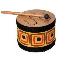 TAMBOR RANURAS MU302 Este tambor de madera es muy particular porque dependiendo de como se toque se obtienen sonidos diferentes: más bajo, más agudo.