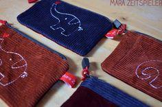 Elephants by Mara Zeitspieler  Embroidery: www.mikronaut.de