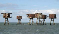 WWII military defense stations in the Thames estuary