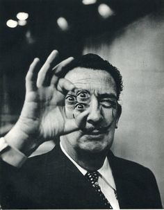 by Phillipe Halsman - Dali, Four-Eyes                                                                                                                                                      Plus