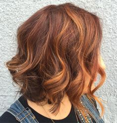 Copper Highlights For Auburn Bob