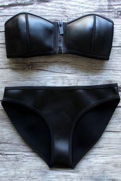 Sexy Bikini, Bikini Noir, Mode Du Bikini, Push Up Bikini, Black Bikini, Bikini Swimwear, Swimsuits, Bikini Beach, Sport Bikini Set