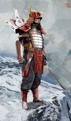 Samurai Gen, David Benzal on ArtStation at https://www.artstation.com/artwork/samurai-gen