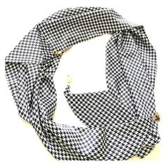 Silk Houndstooth Scarf This scarf is perfect! Never used! Accessories Scarves & Wraps