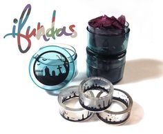 Hand cast clear resin ring with tombs and gravestones! The ring is approx. 9mm wide and about 2mm thick so it comfortable to wear. Includes a free graveyard trinket pot!
